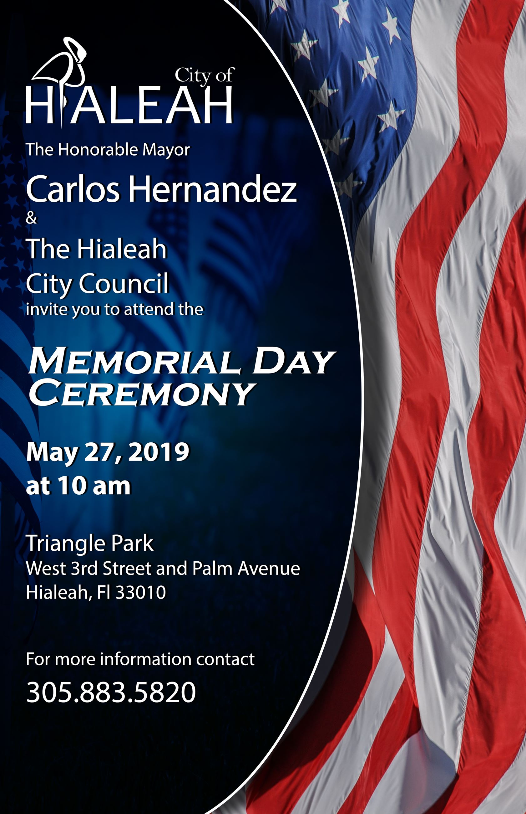 Poster of the memorial day ceremony event