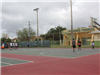 Basketball and racquetball courts