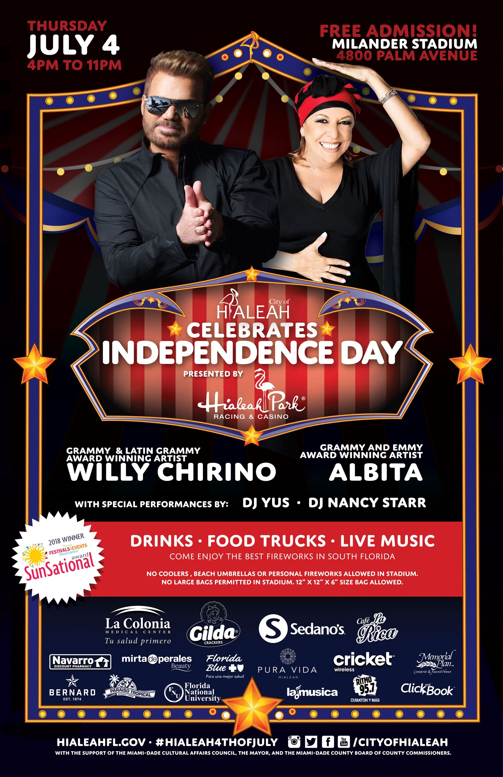 Independence-Day-2019-Poster-FINAL with Albita and Willy Chirino