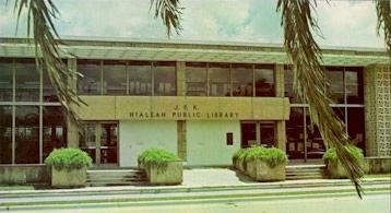 A vintage photo of the Hialeah Public Library