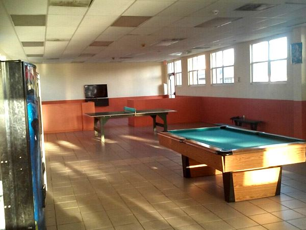 Indoor pool table, ping pong, and video games